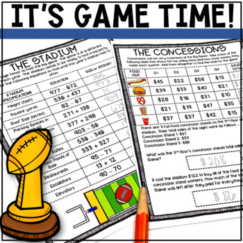 THE BIG FOOTBALL GAME Math Project: 2nd Grade
