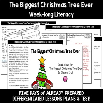 The Biggest Christmas Tree Ever Interactive Read Aloud with Activities