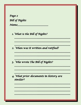 THE BILL OF RIGHTS: AMERICAN HISTORY ASSIGNMENT