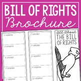 THE BILL OF RIGHTS Research Brochure Template, American History Project