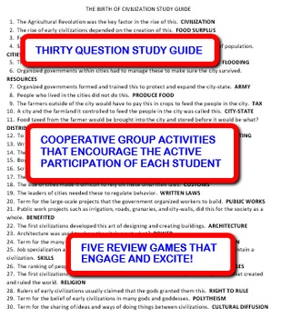 The Birth of Civilization: Study Guide and Activity Pack