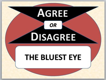 THE BLUEST EYE - Agree or Disagree Pre-reading Activity
