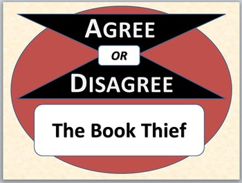THE BOOK THIEF - Agree or Disagree Pre-reading Activity