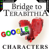 THE BRIDGE TO TERABITHIA Characters Organizer (Created for