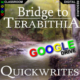 THE BRIDGE TO TERABITHIA Journal - Quickwrite Writing (Cre