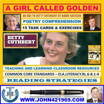 A GIRL CALLED GOLDEN BY DAVID BATESON - WORKSHEETS WITH ANSWERS