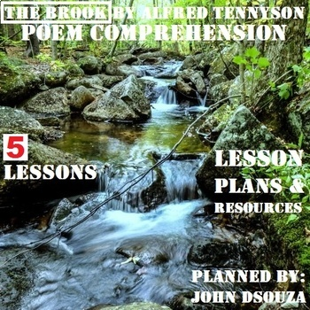 THE BROOK POEM COMPREHENSION: LESSONS & RESOURCES