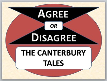 THE CANTERBURY TALES - Agree or Disagree Pre-reading Activity
