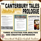THE CANTERBURY TALES Creative and Analytical Activities Bundle