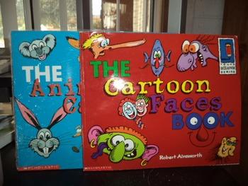 THE CARTOON FACES BOOK  ANIMAL CARTOON  (SET OF 2)