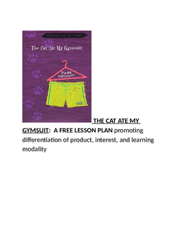 THE CAT ATE MY GYMSUIT:  A FREE LESSON PLAN