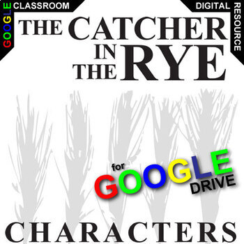 THE CATCHER IN THE RYE Characters Organizer (Created for Digital)