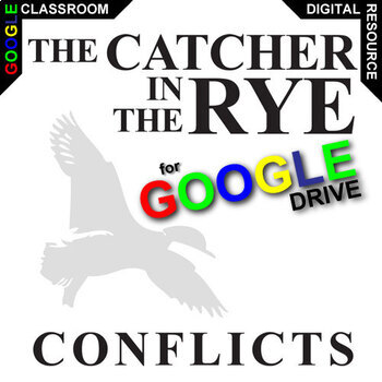THE CATCHER IN THE RYE Conflict Graphic Organizer (Created for Digital)