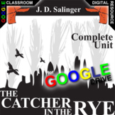 THE CATCHER IN THE RYE Digital Unit Plan Novel Study - Literature Guide