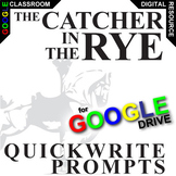 THE CATCHER IN THE RYE Journal - Quickwrite Writing (Created for Digital)