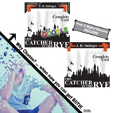 THE CATCHER IN THE RYE Unit Plan Novel Study (Print & Digital)