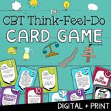 CBT Think-Feel-Do: Print+ Digital SEL Game   Social Emotional Distance Learning
