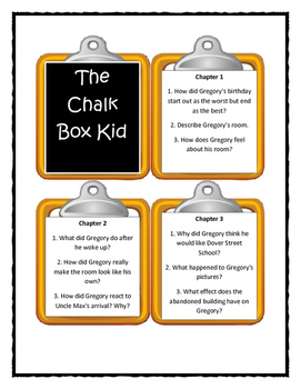 THE CHALK BOX KID by Clyde Robert Bulla - Discussion Cards