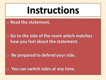 THE CIRCUIT - Agree or Disagree Pre-reading Activity