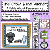 CROW AND THE PITCHER FABLE UNIT FOR EMERGENT READERS FOCUS