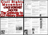 THE CIVIL RIGHTS SIX PAGE WORKSHEET PACK - FOR The Gateway