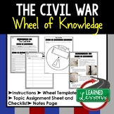 THE CIVIL WAR Activity, Wheel of Knowledge Interactive Notebook