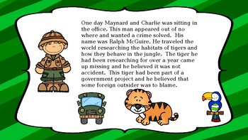 THE CLUMSY DETECTIVE STORYBOOK-Book 1 Tiger on the Loose