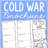 THE COLD WAR Research Brochure Template, World History Project