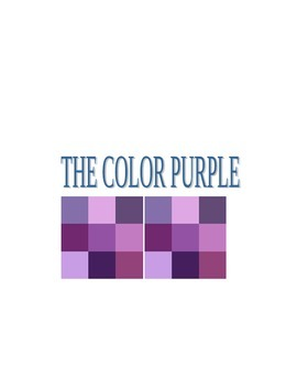 THE COLOR PURPLE Questions for Group Discussion