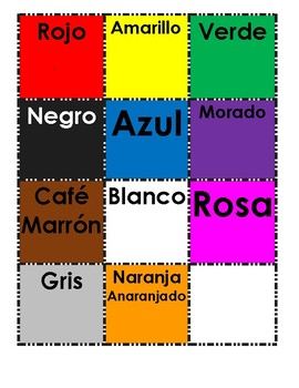 SPANISH: THE COLORS