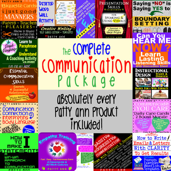 ORAL & WRITTEN CoMmUnIcAtiOn PaCkAgE COMPLETE! >Every Patty Ann Product Included
