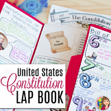THE CONSTITUTION  LAP BOOK Template with DOODLE NOTES
