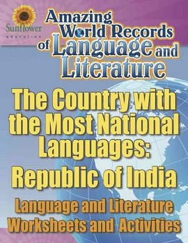 THE COUNTRY WITH THE MOST NATIONAL LANGUAGES: REPUBLIC OF INDIA—Worksheets