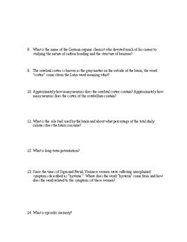 THE CREATIVE BRAIN Book Questions
