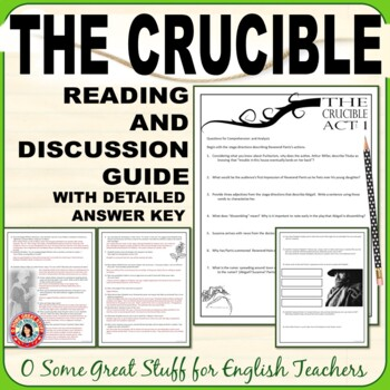 THE CRUCIBLE COMPREHENSION AND ANALYSIS QUESTIONS BUNDLE