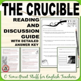 THE CRUCIBLE Reading Questions and Annotation Bundle DIGITAL-ENABLED with Key
