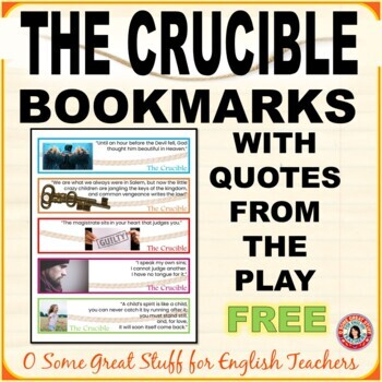 THE CRUCIBLE FREE BOOKMARKS!