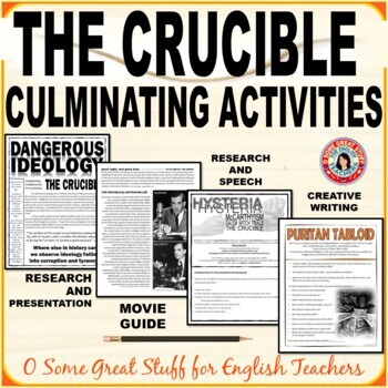 THE CRUCIBLE Four Culminating Activities BUNDLE Independent and Group Projects