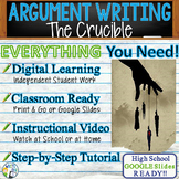 The Crucible by Arthur Miller - Text Dependent Analysis Argumentative Writing