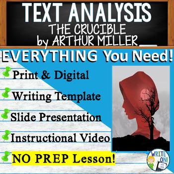 The Crucible by Arthur Miller - Text Dependent Analysis Ar