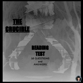 THE CRUCIBLE by Arthur Miller (test)