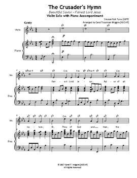 THE CRUSADER'S HYMN (Violin & Piano)