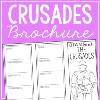 THE CRUSADES Research Brochure Template, World History Project