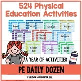 """THE DAILY DOZEN PE ACTIVITIES: """"If I only had Complete Set."""""""