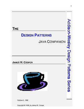THE DESIGN PATTERNS JAVA COMPANION
