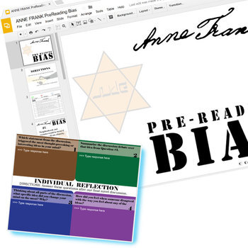 THE DIARY OF ANNE FRANK PreReading Bias Activity (Created for Digital)