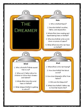 THE DREAMER by Pam Munoz Ryan - Discussion Cards