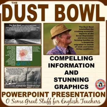 THE DUST BOWL PowerPoint Presentation Great Intro to The Grapes of Wrath