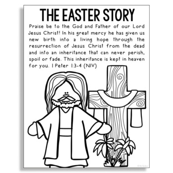 Easter Jesus Coloring Pages Printable | 350x350