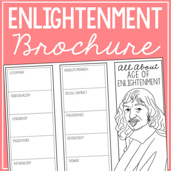 THE ENLIGHTENMENT Research Brochure Template, World History Project